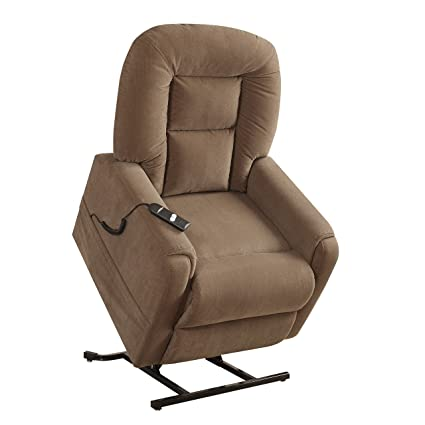 Pulaski Extra Comfortable Lift Chair, Light Mocha Brown