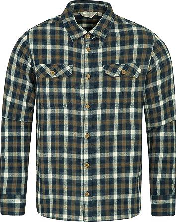 Mountain Warehouse Camisa de Franela de Manga Larga Trace para Hombre Carbón S: Amazon.es: Ropa y accesorios