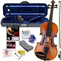 Bunnel Premier Violin Outfit 1/10 Size - Carrying Case and Accessories Included - Highest Quality Solid Maple Wood and Ebony Fittings By Kennedy Violins