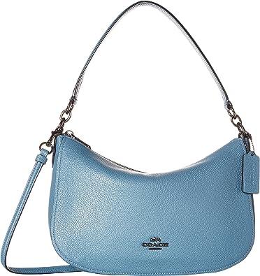 COACH Women s Chelsea Crossbody in Polished Pebble Leather Dk Chambray One  Size  Handbags  Amazon.com 066f5fd49fce1