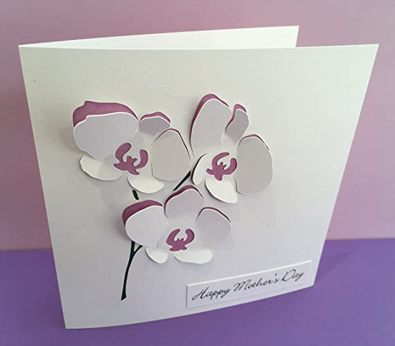 Orchid mothers day card paper cut flowers mothering sunday orchid mothers day card paper cut flowers mothering sunday handmade greeting card m4hsunfo