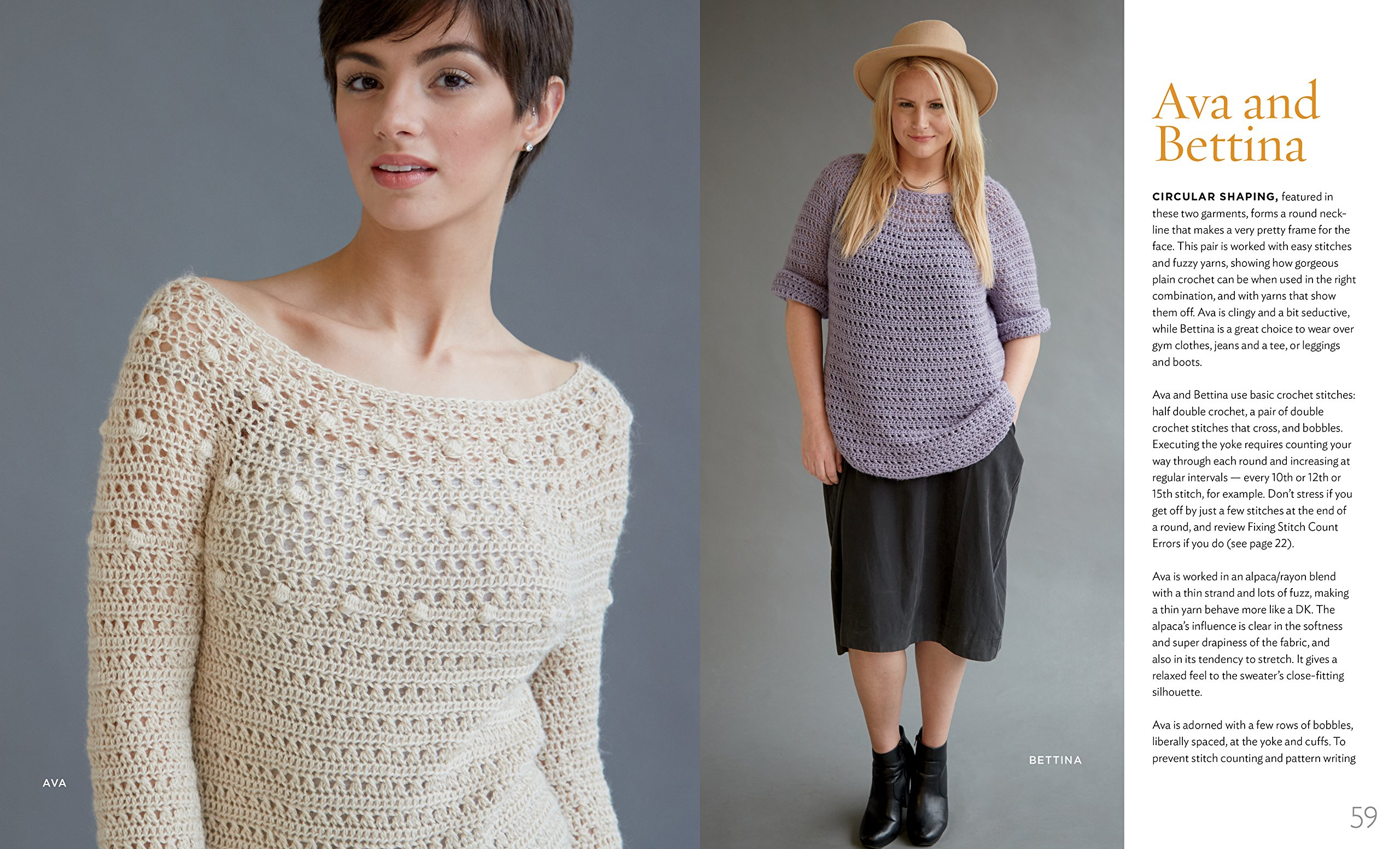 Amazon.com: Top-Down Crochet Sweaters: Fabulous Patterns with ...