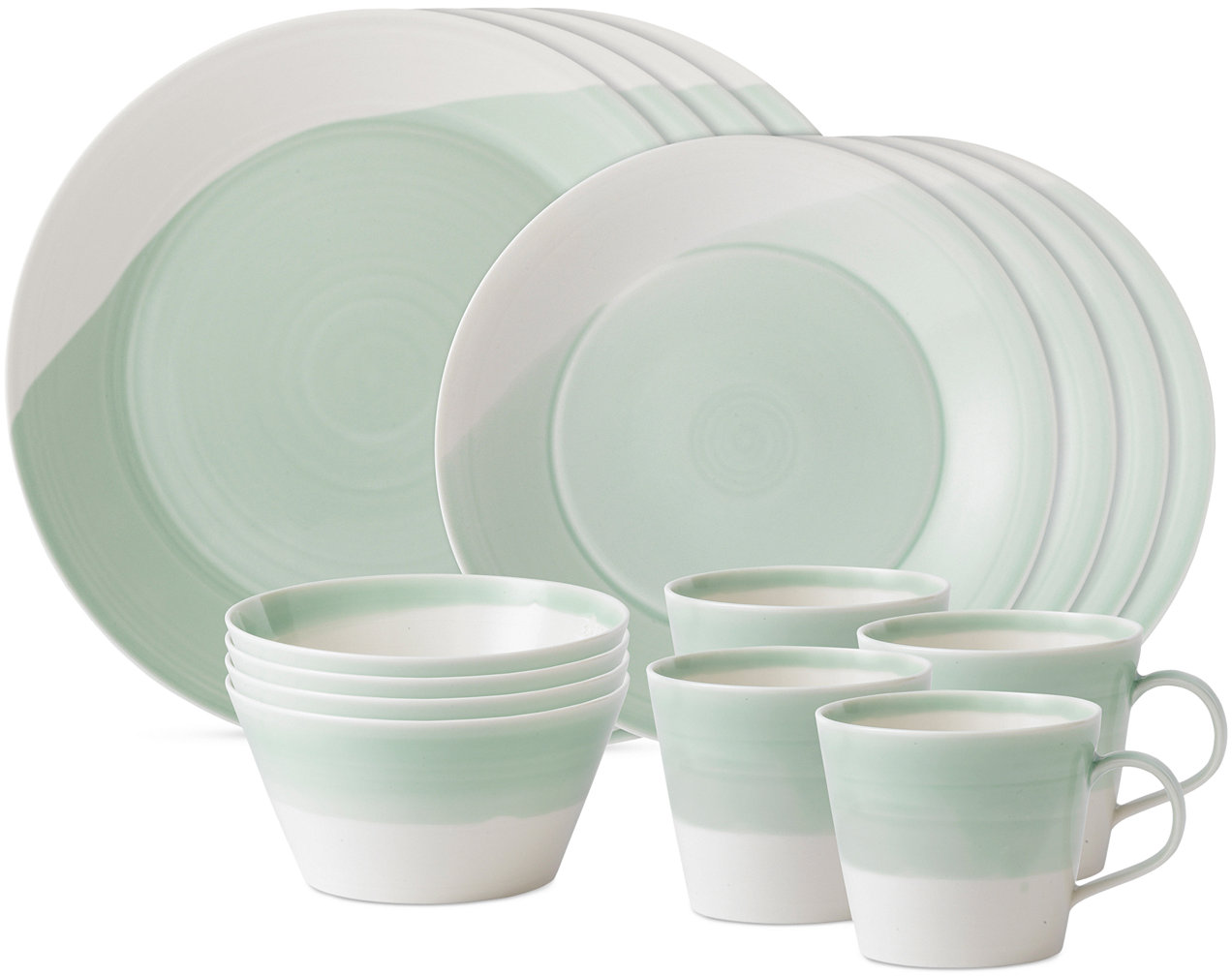 Royal Doulton Dinnerware, 1815 Green 16-Piece Set, Service for 4 - Fine China - Macy's