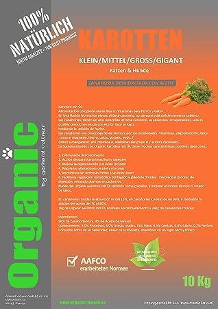 Organic Karotten mit Öl 1kg | Zanahoria deshidratada con Aceite para Perros o Gatos