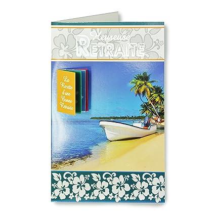 afie 65 - 1112-b tarjeta despedida Feliz jubilación - playa ...