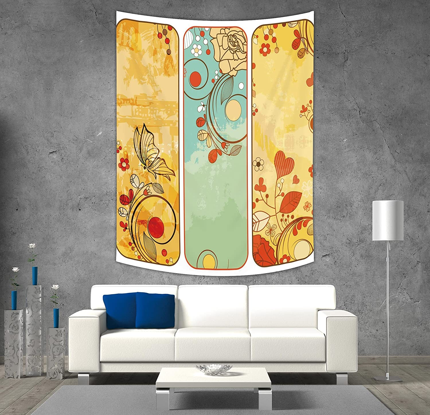 iPrint Polyester Tapestry Wall Hanging,Abstract,Vertical Horizontal ...