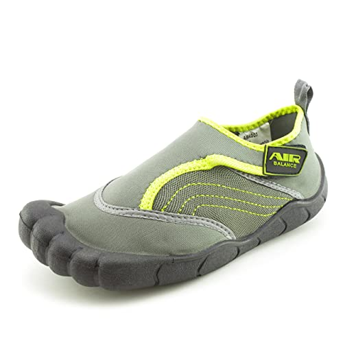 c434b3b771a8 Air Balance Unisex Boys Girls Touch Fastner Toe Creek Pool Cruise Aqua  Water Shoes (Gray