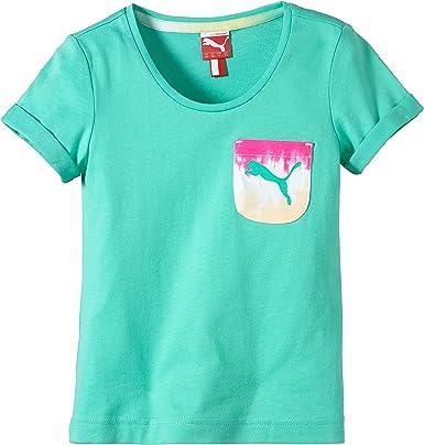 PUMA T-Shirt Graphic tee - Camiseta/Camisa Deportivas para niña, Color Verde, Talla 104: Amazon.es: Ropa y accesorios