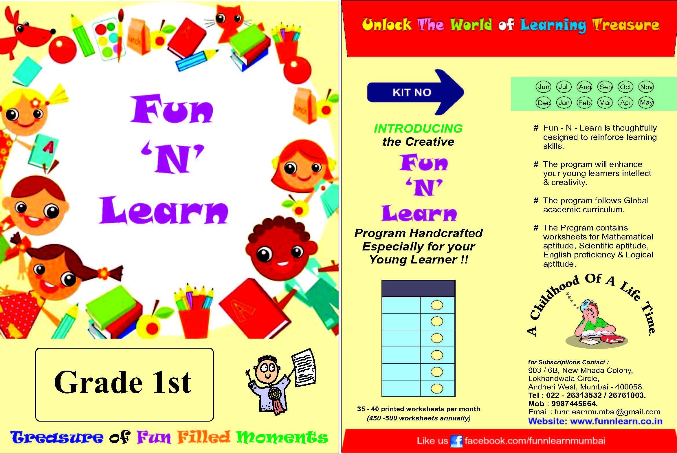 Buy Fun N Learn Worksheets - 1st Grade (3 Months Bundled package ...