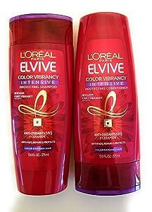 L'Oreal Color Vibrancy Intensive Shampoo and Conditioner Set, 12.6 Ounces each (Bundle: 2 Items)