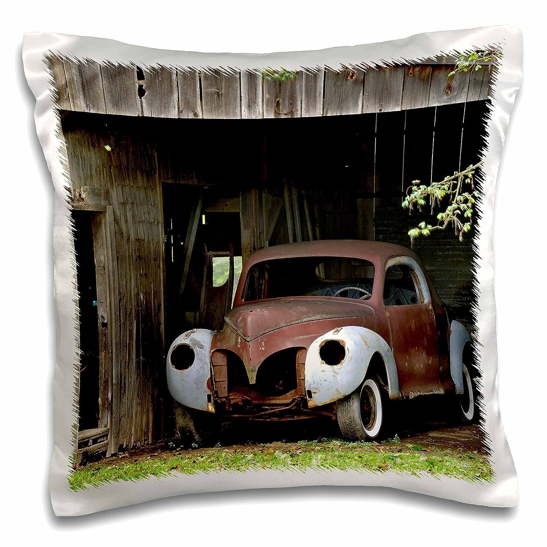 Massachusetts-US22 AJE0058-Adam Jones-Pillow Case 3dRose pc/_90810/_1 Old car in barn Rockport 16 by 16