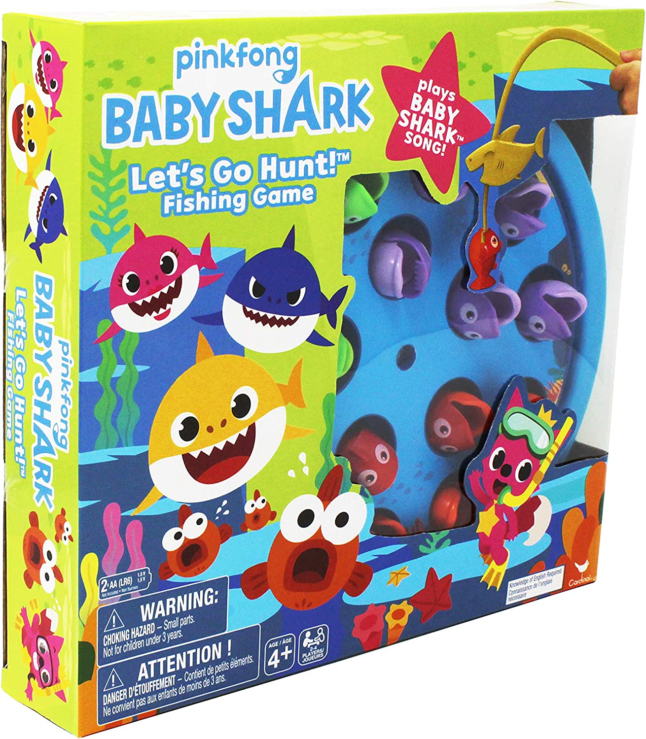 Cardinal Games 6054916 Baby Shark Gone Fishing Game, Multi Colour