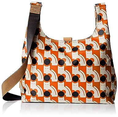 Orla Kiely Poppy Cat Print Midi Sling Bag, Persimmon, One Size ...