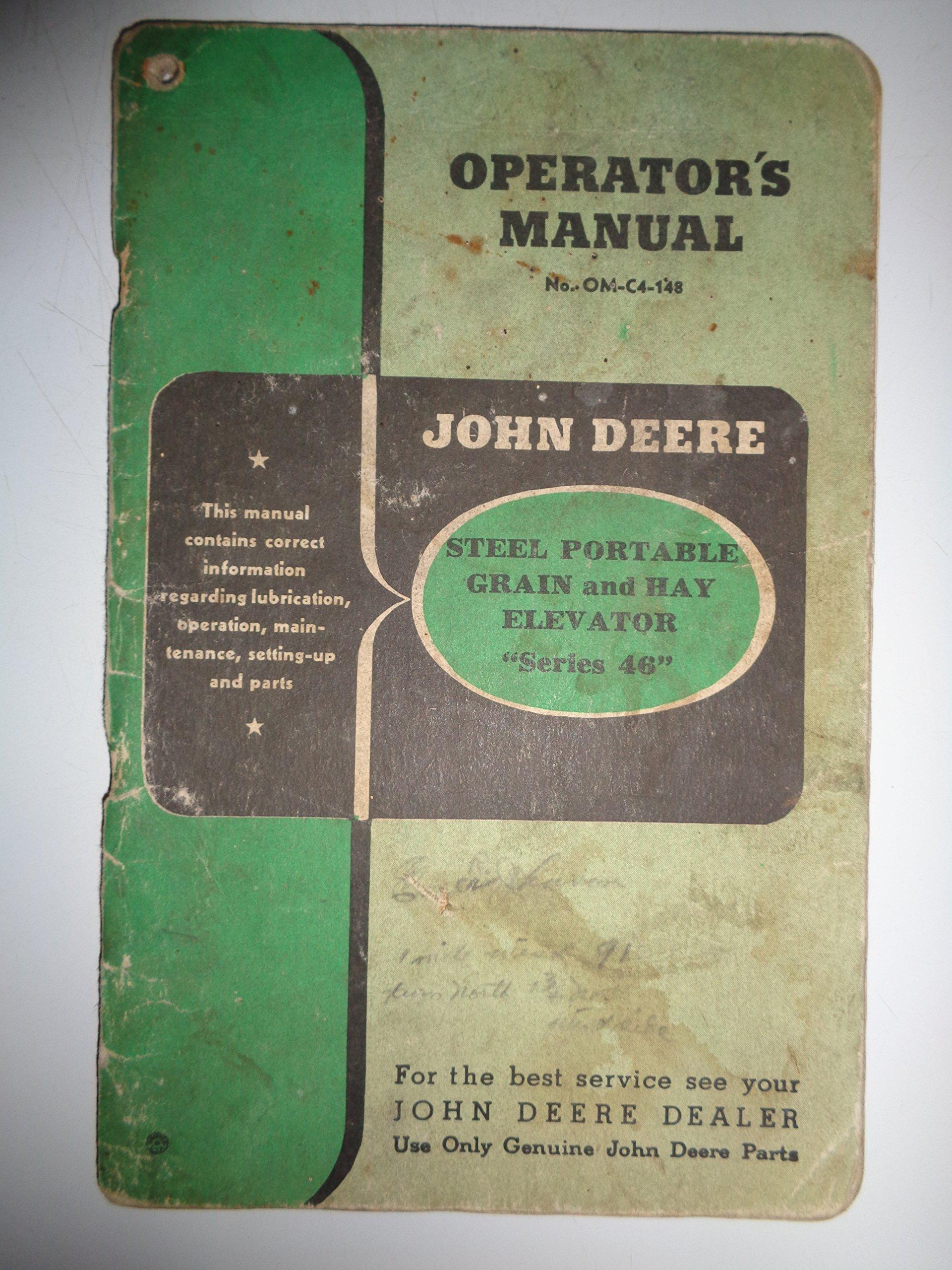 John Deere Series 46 Hay/Grain Portable Elevator Parts