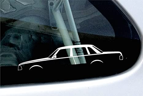 2 x de silueta de coche – Pegatinas en Volvo 240 Turbo Sedán