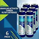 Granular Activated Carbon Water Filter Cartridge by Ronaqua (6 Pack)