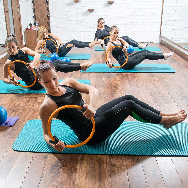 Dasing Anneau Pilates avec Ceinture R/éSistance//Courroie Traction Cercle dentra?Nement pour lexercice de Remise en Forme pour Un Entra?Nement du Corps du Yoga et de la Musculation