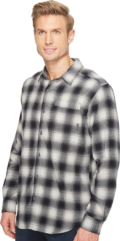 Comfortable Stretch Cotton Columbia Men/'s Boulder Ridge Long Sleeve Flannel Shirt