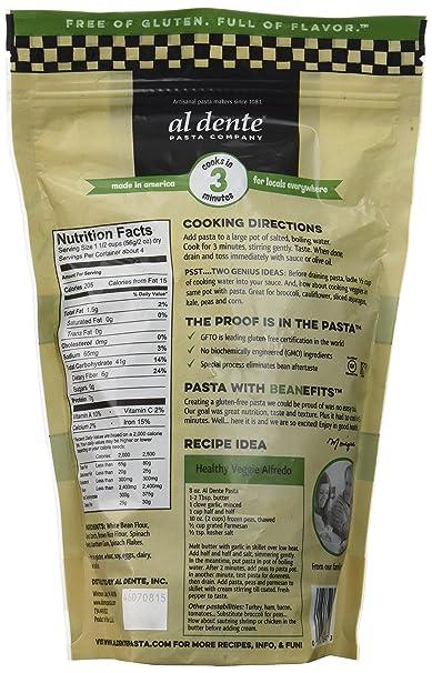 Amazon.com : Al Dente Spinach Gluten Free Pasta Spirals, 8 OZ (Pack of 6) : Grocery & Gourmet Food