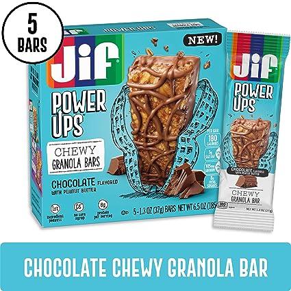 Jif Power Ups Barras de granola masticables, manteca de ...