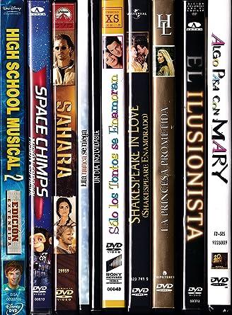 PACK 10 DVD Películas de segunda mano ROMANTICA / COMEDIA / ANIMACIÓN: Amazon.es: Cine y Series TV