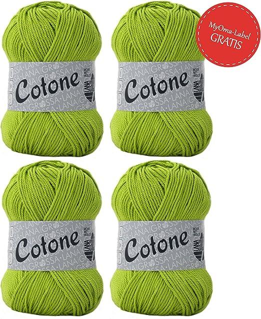 Hilo De Lana Grossa Cotone pistacho (Fb 023) – 100% algodón para ...