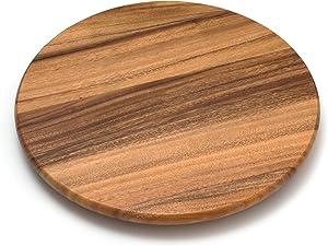 "Lipper International Acacia Wood 16"" Lazy Susan Kitchen Turntable"
