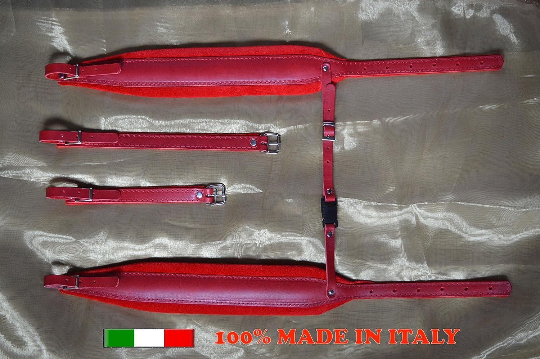 Paire de bretelles courroies sangles d'accordéon 8 CM 100% Fabriquées en Italie DELUXE