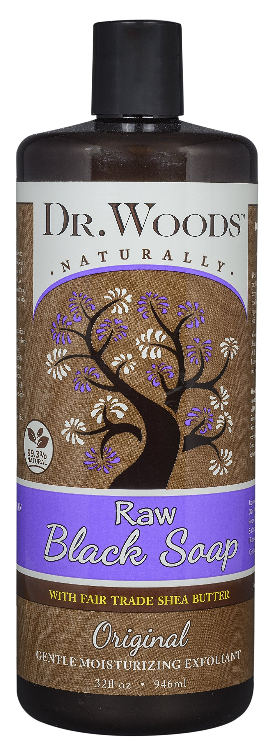 Dr. Woods Raw African Black Liquid Body Wash with Organic Shea Butter, 32 Ounce