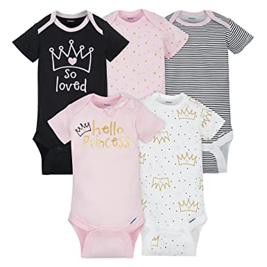 Amazon.com: Gerber - Conjunto de 5 mamelucos para niña bebé ...
