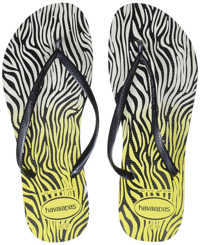 Havaianas Zehentrenner Damen Slim Animals Mehrfarbig (Weiß/Yellow 0709) 0709) (Weiß/Yellow 7a693f