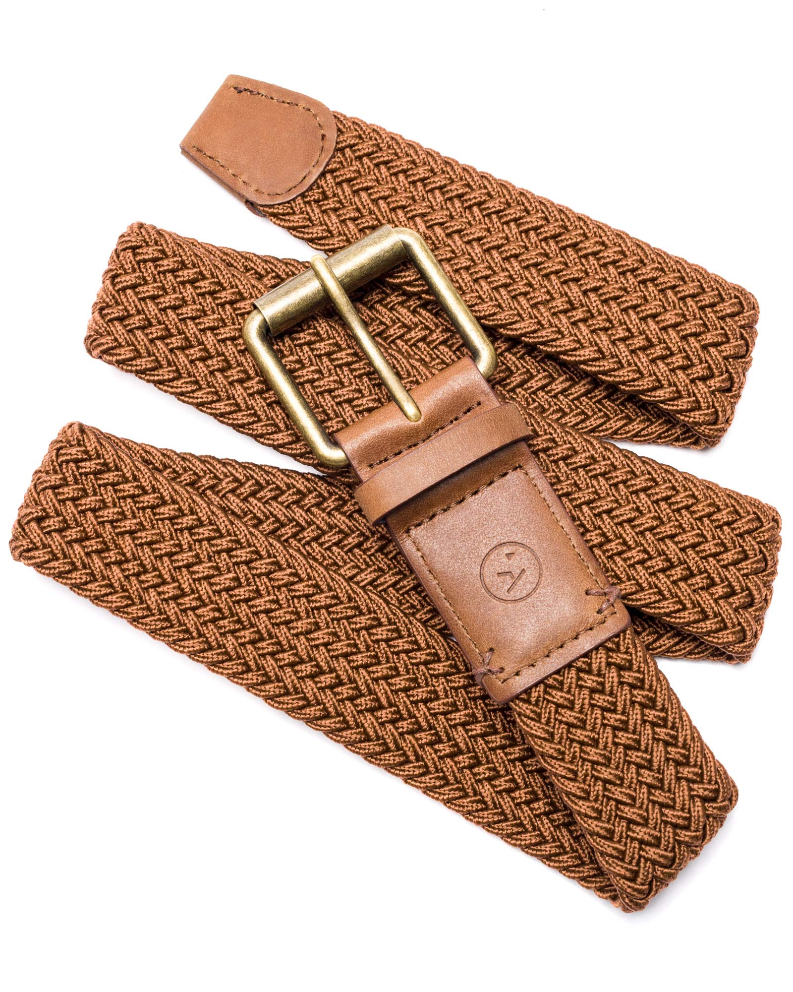 Arcade Belt Mens Smartweave Hudson Belts: Braided Elastic Webbing For A Custom Fit, Brown/Caramel, L