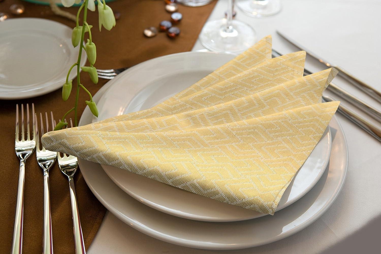 30 x 30 cm Dunkelgelb Bio Baumwolle Adam Graphic Ventus Light Serviette 4-Einheiten