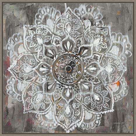Framed Canvas Wall Art Print Home Wall Decor Canvas Art Mandala In Neutral Ii By Danhui Nai Modern Decor Stretched Canvas Prints 22 00 X 22 00 In Posters Prints
