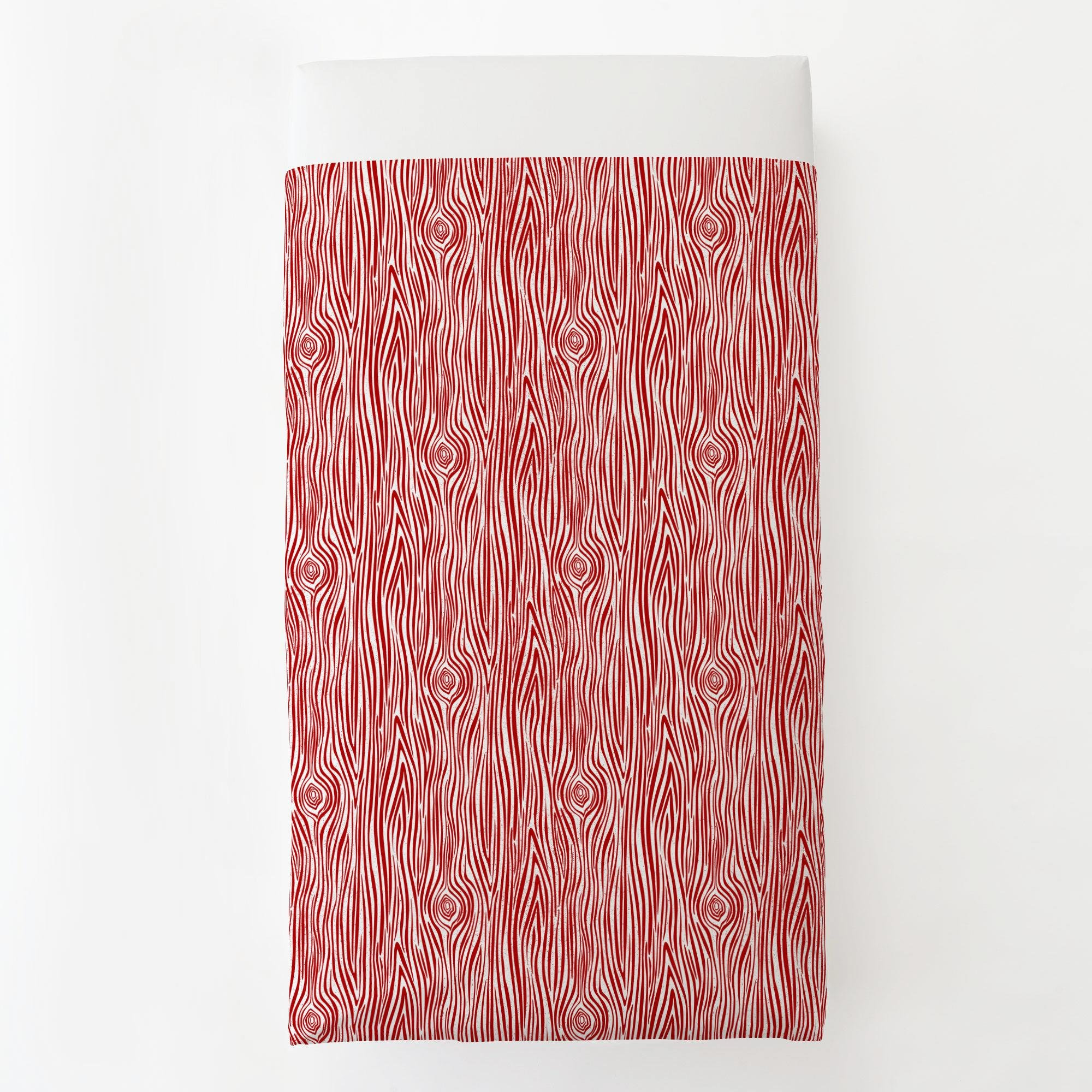 Carousel Designs Red Woodgrain Toddler Bed Sheet Top Flat by Carousel Designs (Image #2)