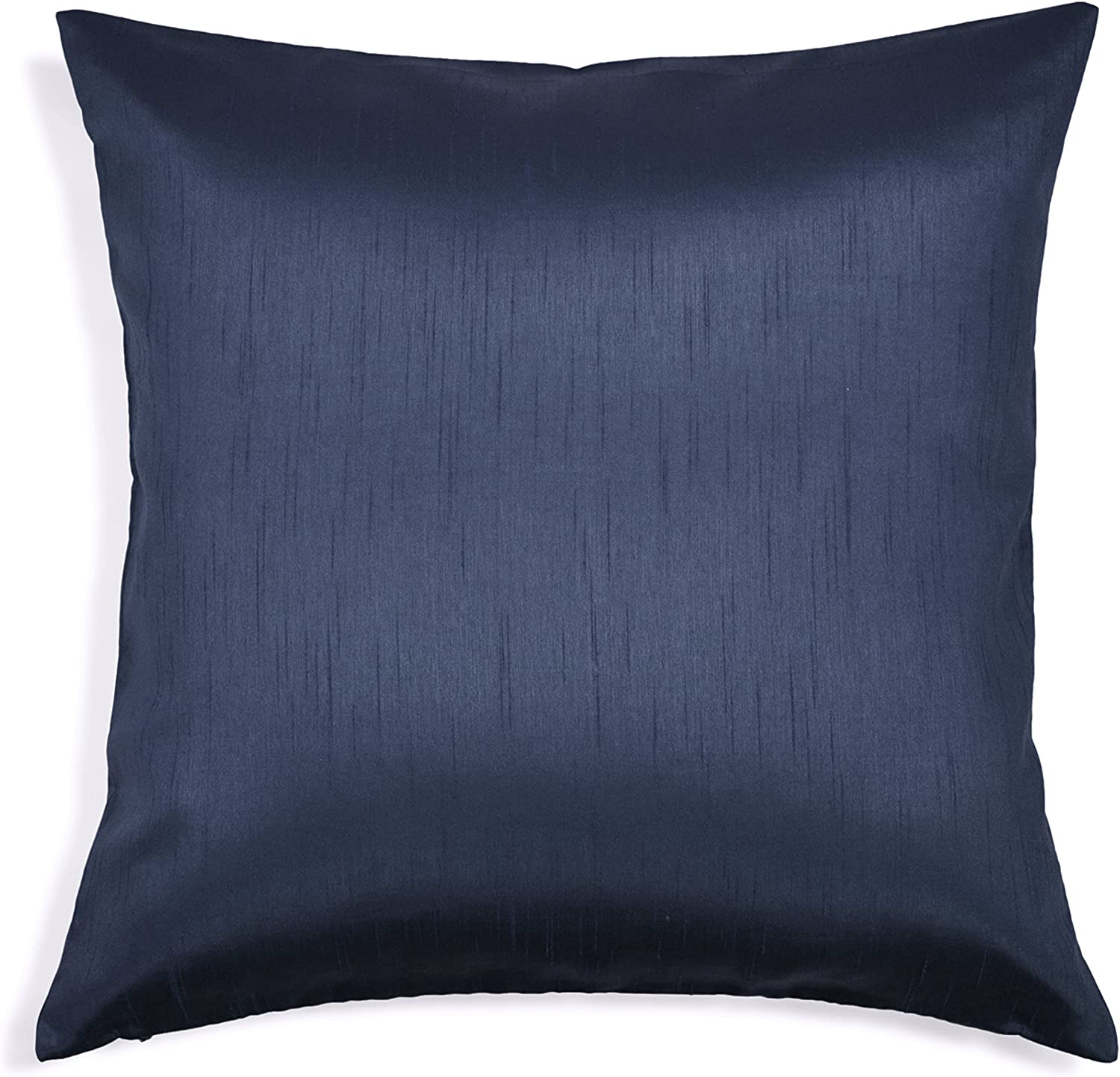 Aiking Home Solid Faux Silk Euro Sham Pillow Cover Zipper Closure 26 By 26 Inches Navy Home Kitchen