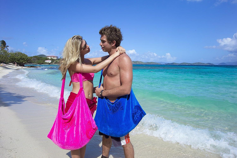 Pink Glitsa Sun lounger cover /& beach bag