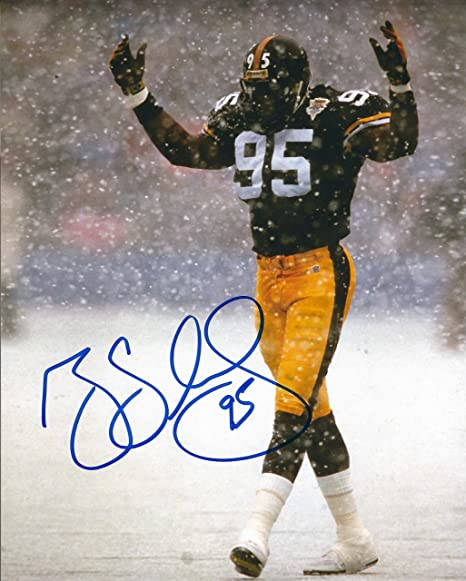 1f461eef9 Image Unavailable. Image not available for. Color: Autographed Greg Lloyd  Pittsburgh Steelers ...