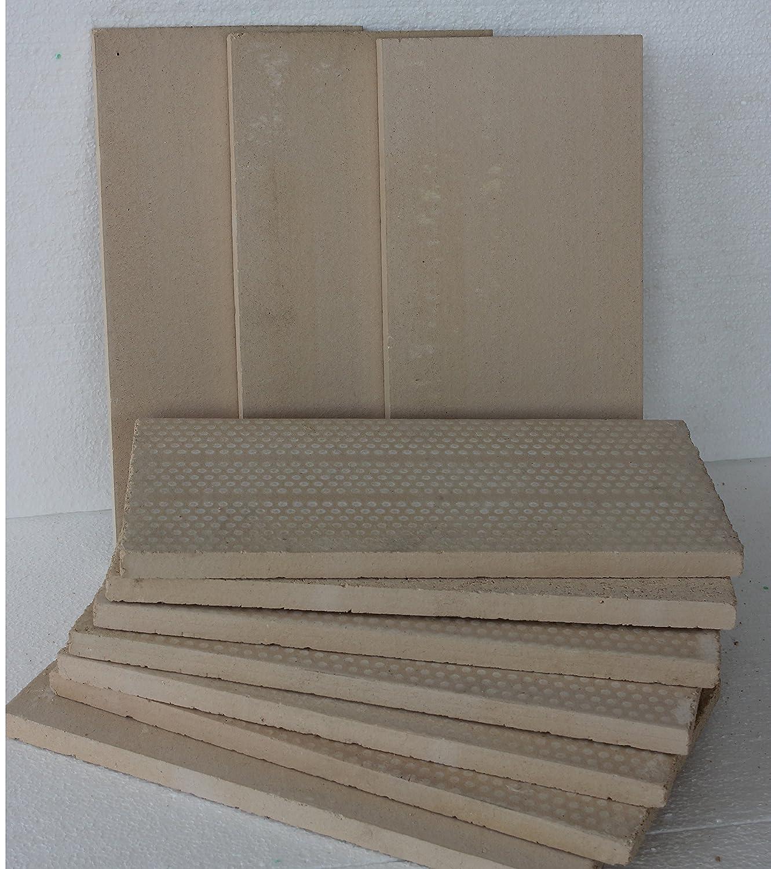 chamotte pour four 400 x 200 x 20 mm Panneaux r/éfractaires qualit/é sup/érieure