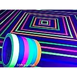 GreyParrot Tape UV Blacklight Reactive, (6 Pack), 33ft Per Roll, Fluorescent Cloth Tape