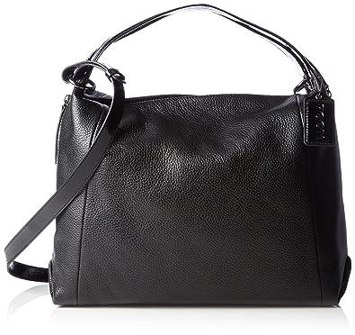 Switzerland Damen Handtasche & Schultertasche Schwarz Kalbsleder Poon 1GnMK