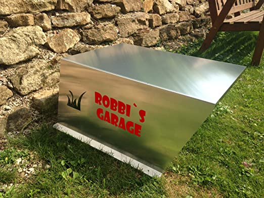 Garaje para robot cortacésped con Tex, según los deseos de ...