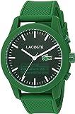 Lacoste Men's '12.12-TECH' Quartz Plastic and Rubber Smart Watch, Color:Green (Model: 2010883)