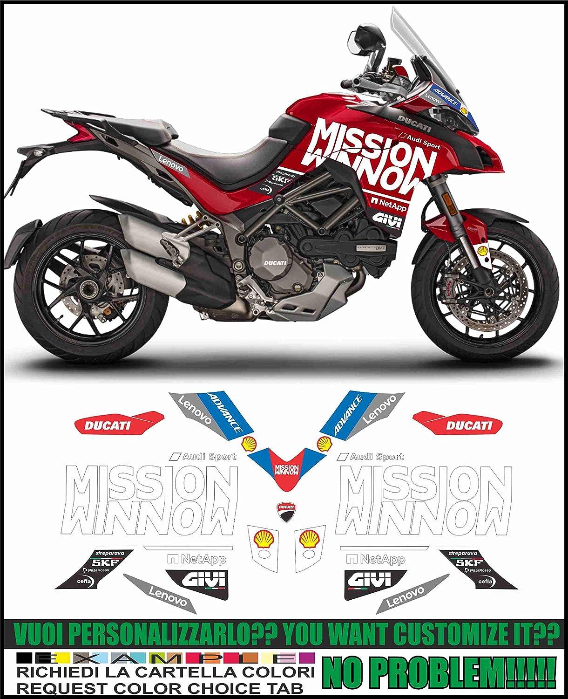 Kit adesivi Decal stikers Ducati MULTISTRADA 1260 Moto GP 2019 Tribute Replica: Amazon.es: Coche y moto