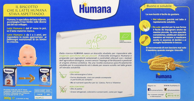 Humana Biscotto Biologico , 1 Scatola Amazon.it Alimentari e cura della  casa