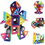 Bloques de construcción magnéticos, 3D Juguetes Creativos y Educativos, DIY Juguetes,Juegos de Construcción,Mejor Regalo de Cumpleaños (77 Piezas)