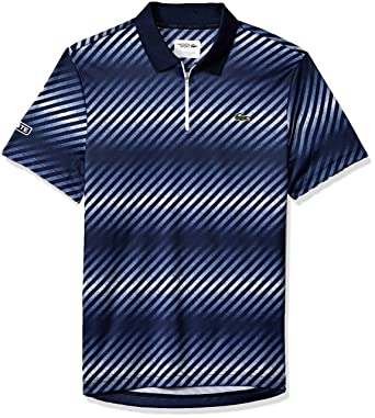 c8fff2ae7647 Lacoste Men s Sport Short Sleeve Ultra Dry Sublimated All Over Print Polo