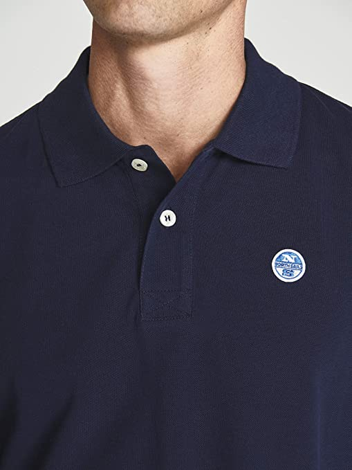 NORTH SAILS Cotton Polo with Appliqu/és
