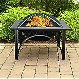 Centurion Supports KOJIN Multifunzionale nero elegante Piazza Outdoor Giardini e terrazze riscaldatore di lusso Fire Pit Braciere