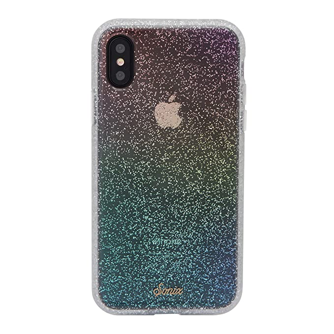 separation shoes 27f7d 2ef6a Sonix Rainbow Glitter Cell Phone Case [Military Drop Test Certified]  Protective Clear Series for Apple iPhone X, iPhone Xs